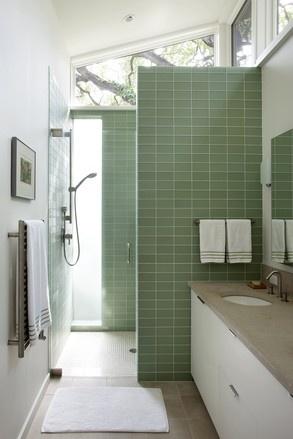 Lovely light-filled walk-in shower.