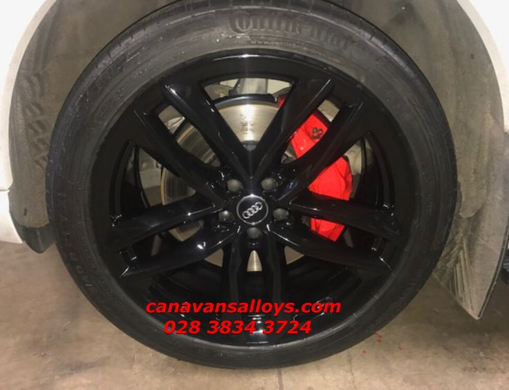 Wheels refurbished in black, brake calipers redone in red. A lovely combination, a much tidier end result & much cleaner looking car. Call now & get yours bits booked in. 028 3834 3724.