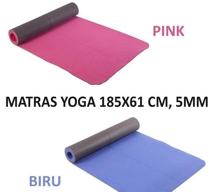 Murah Domyos Matras Yoga 185x61 Cm Ketebalan 5mm Biru Pink Ori Decathlon Dengan Gambar Decathlon Matras Biru