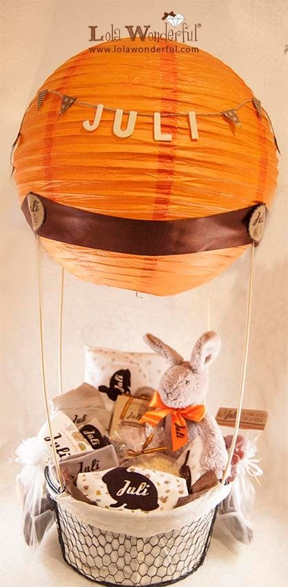 Lola Wonderful_Blog: Cesta bebé personalizada globo aerostático