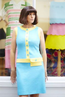 The Ophelia 1960s-style shift dress at Bob by Dawn O'Porter