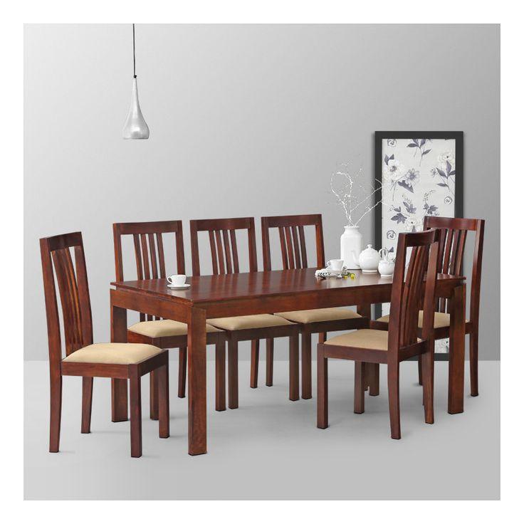 Sei sedie Miele Legno di sheesham Set da pranzo DSS-11076 X 172 X 88 CM | Arts of India – Italy