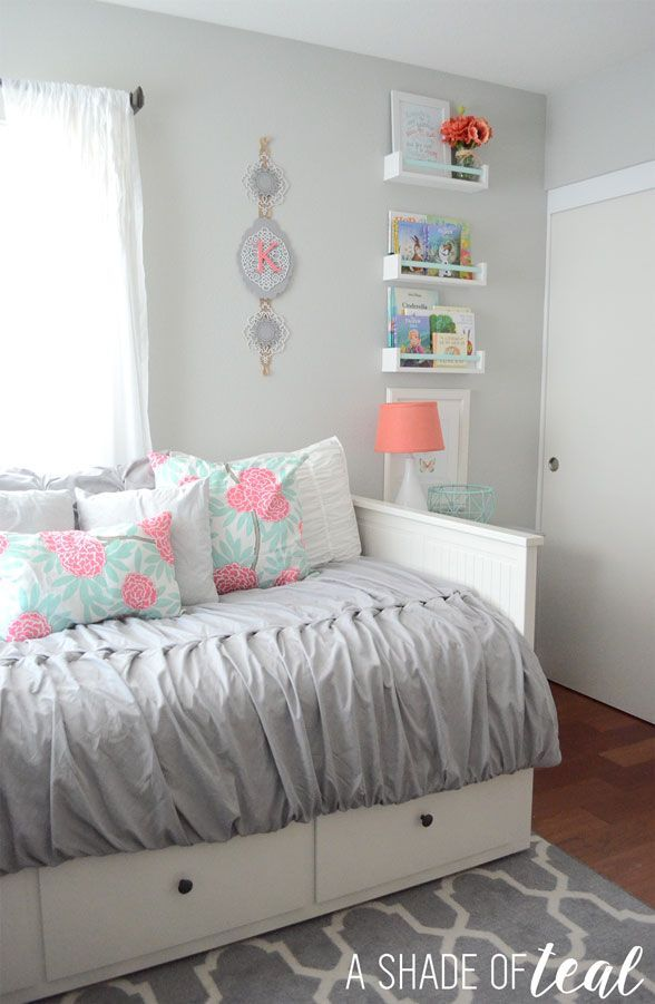 Big girl room the reveal big girl rooms teal and room for 6 x 8 bedroom ideas