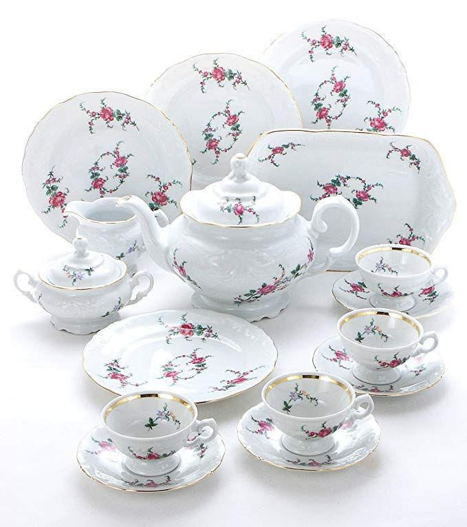 Wawel Tea With Grace 16 Piece Fine China Tea Set For Children Rose Garden Service For Four Review Fine China Tea Set China Tea Sets China Tea