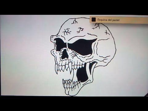 Como dibujar una calavera 4 - Art Academy Atelier Wii U | How to draw a skull 4 - YouTube