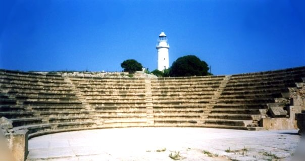 Cyprus - Amphitheatre and lighthouse, Paphos