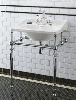 Herbeau Empire Sink & Metal Washstand - traditional - bathroom sinks - other metro - by Herbeau