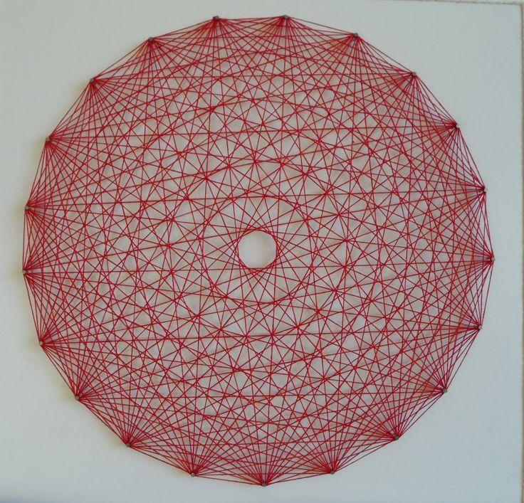 Mandalas Olho de Deus: Mandala em Arte Linear