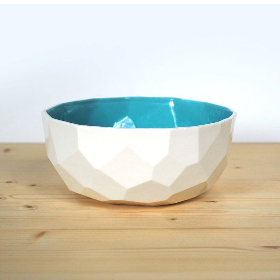How cool are these geometric bowls?