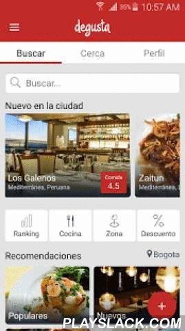 Degusta  Android App - playslack.com ,  Miles de personas ya confían en la mejor guía de restaurantes. Conviértete en un experto gastronómico descargando esta aplicación. Lee, opina, comparte, recomienda y descubre los mejores restaurantes de tu ciudad.- Nueva Interfaz y diseño. Ahora es más fácil y rápido descubrir nuevos restaurantes y encontrar tus restaurantes favoritos. - Motor de búsqueda mejorado. Incluimos una lista de recomendaciones con búsquedas rápidas y la posibilidad de buscar…