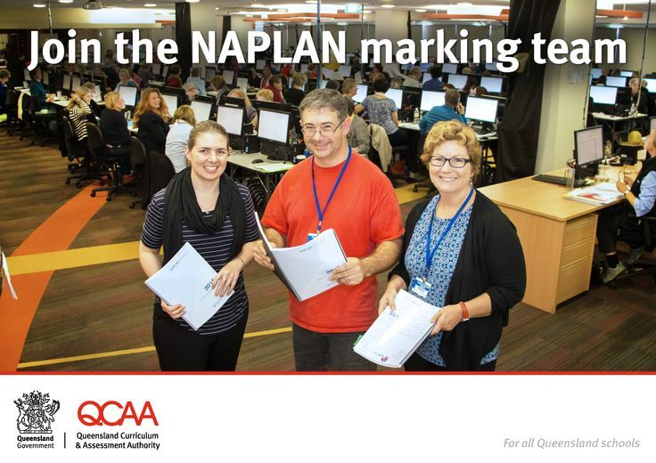 NAPLAN marker recruitment - the Queensland Curriculum and Assessment Authority (QCAA) is responsible for the administration and marking of the Years 3, 5, 7 and 9 National Assessment Program — Literacy and Numeracy (NAPLAN) tests. Each year, the QCAA appoints registered and retired teachers to mark student responses for the NAPLAN writing tests, drawing from the pool of re-applicant markers and recruiting new markers. Find out how to apply...