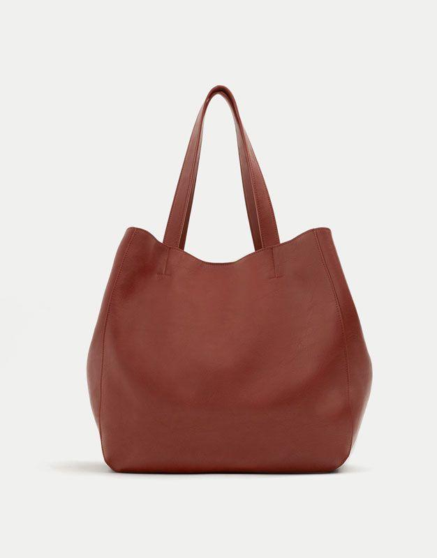 55604827d94f Basic soft tote bag - New - Woman - PULL BEAR Taiwan
