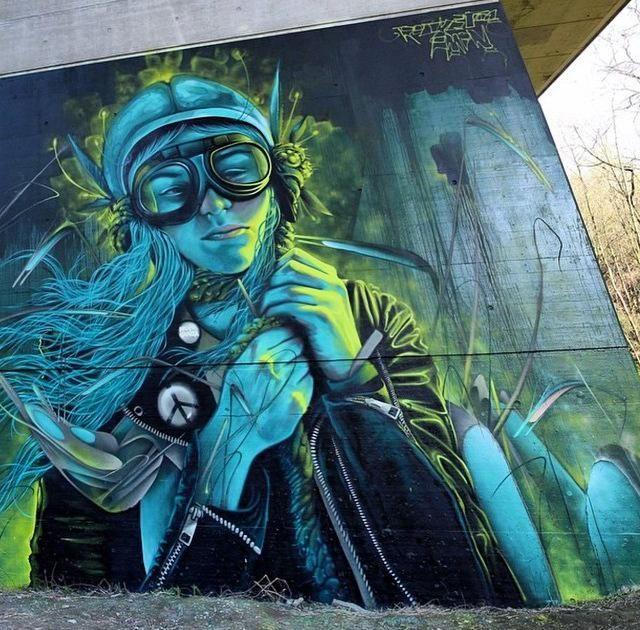 Street Art @GoogleStreetArt Street Art by Rocket & AMIN in Belgium #art #arte #graffiti #streetart