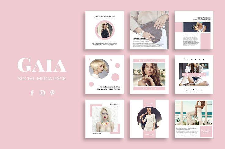 Gaia Social Media pack has templates optimized for facebook, Instagram and Pinterest. $22 https://crmrkt.com/REkR8 #affiliate