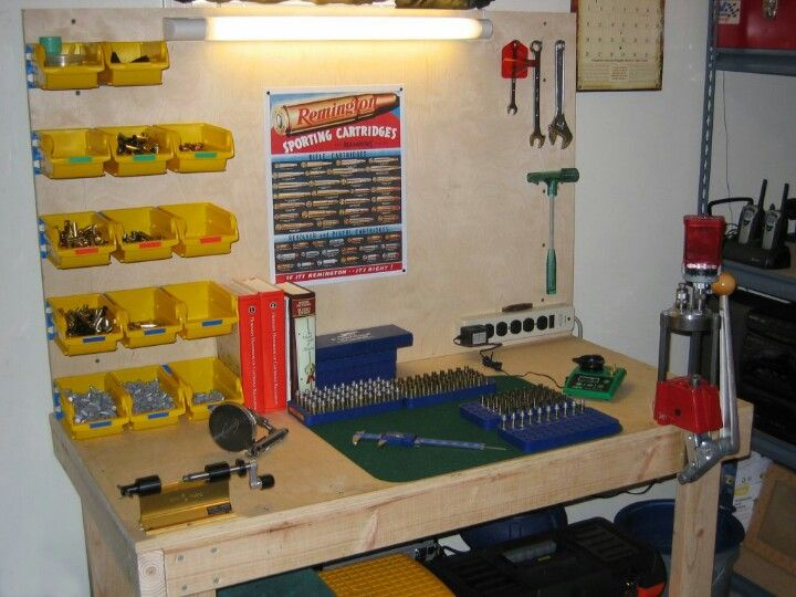 building an ammo reloading bench