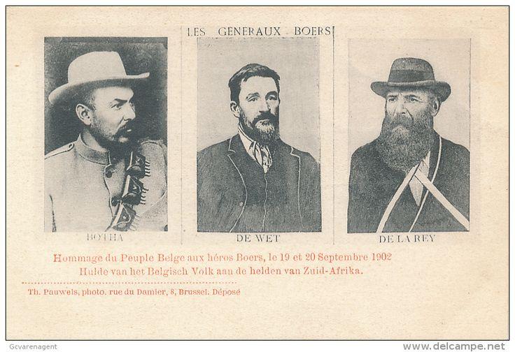 Louis Botha, Christiaan de Wet, Koos de la Rey. Boerengeneraals, 1902.
