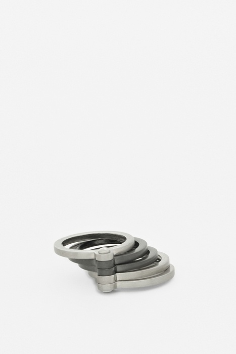 Stacked hinged ring
