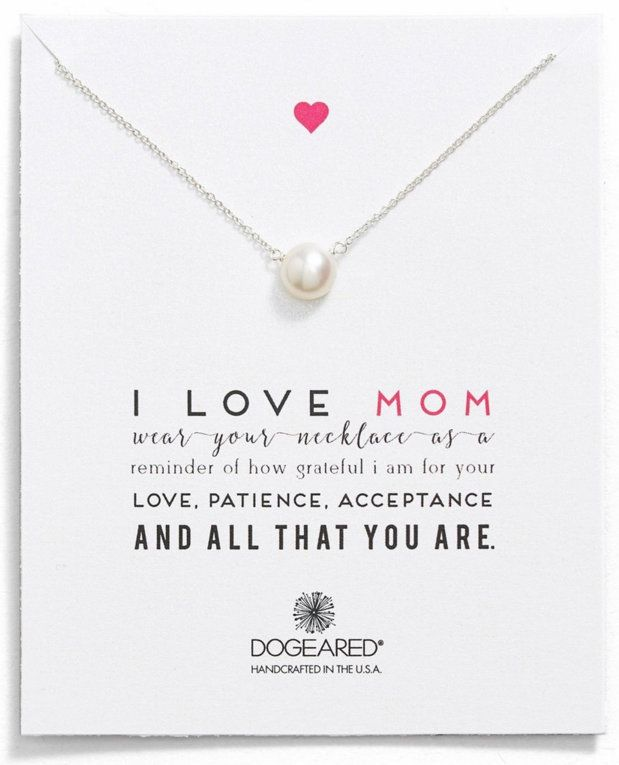 I love mom pearl keepsake necklace at a fantastic price for Mother's Day gifts   Nordstrom