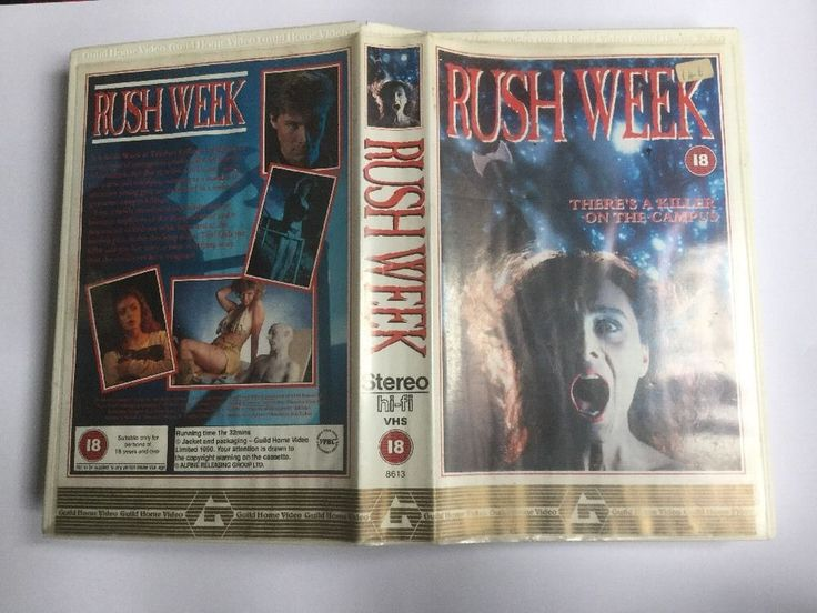 That big box, ex-rental, American-produced, Rush Week (1989), film (AmE depsite Trump; movie), pre-Brexit, PAL VHS tape, GUILD Home Video @ialocinnicolai   #Nostalgie #elokuvat #lodjuren #Tove #Krapu #Skorpioni #Kalat #Guilds #VHS #PAL #Brexit #PamelaLudwig #GreggAllman #PatrickBruel #Kauhu #Rysare #Genda #Nicolai #ialocin #ialocinnicolai