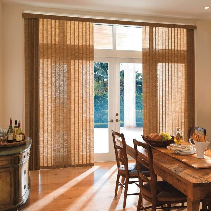 I love the light brown color of these custom vertical blinds. My husband and I are redecorating our dining room and I have been looking for the perfect shade for the windows. I will have to find some custom vertical blinds with this same light brown color since it will match our new table really well.