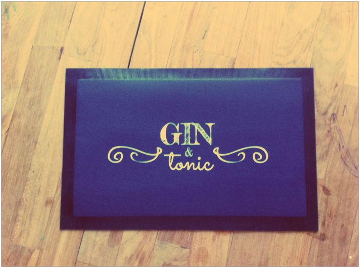 Gin and tonic bar mat. So cute! fits well with our G&T collection ;-)   http://mashaweenink.wix.com/ginandtonic