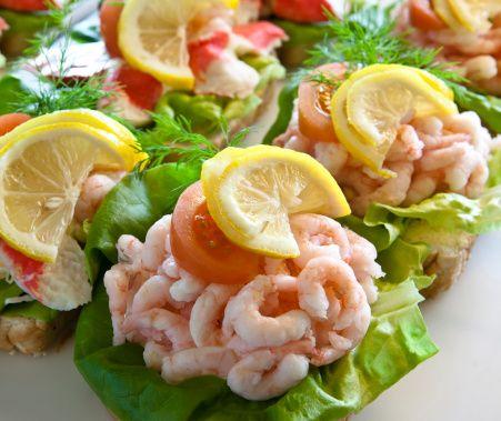 Shrimp sandwiches from the Little Scandinavian web site.