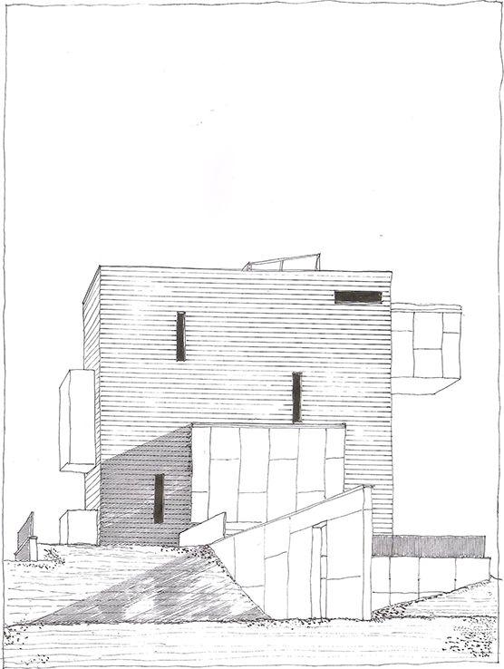 Földes and Co. Architects Ltd., Kemenes Volcano Park Visitors center, Celldömölk, Hungary, 2011-2013 | drawn by Riccardo Salvi