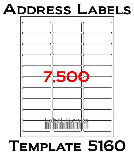 Staples Mailing Labels Template 5160