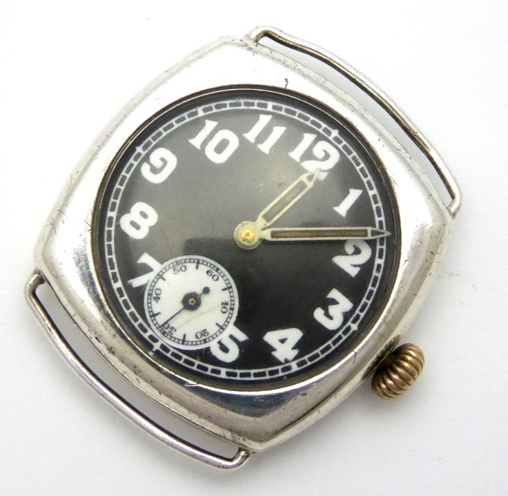 WW1 1917 Sterling Silver Trench Wrist Watch London Silver Import Marks - The Collectors Bag
