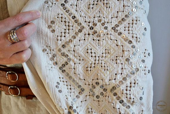 Vintage Romanian blouse / Transylvanian embroidered by Medreana, $150.00