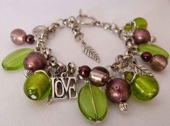 Check out this item in my Etsy shop https://www.etsy.com/au/listing/243416975/a-handmade-bracelet-of-green-and-plum
