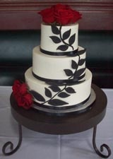 red and black wedding cakes - Google Search