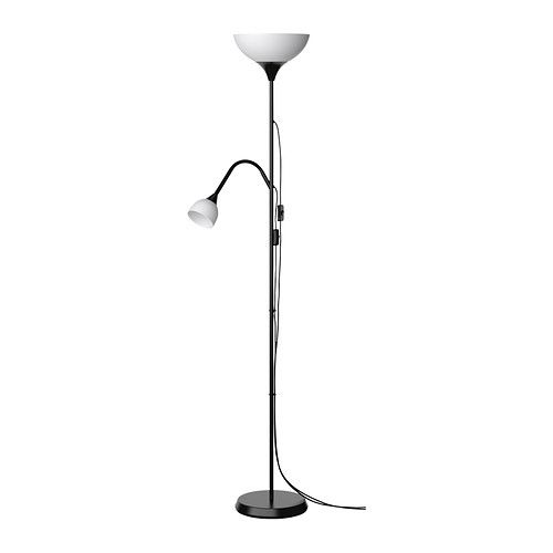 IKEA - NOT, Floor uplight/reading lamp, These lamps can be both general lights and reading lights and can be switched on and off separately.