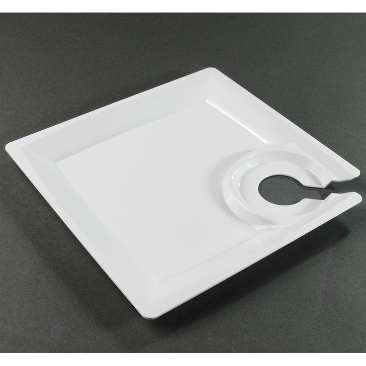 WNA Comet MSCTLW White 8 inch Milan Square Cocktail Plate with Cup Holder 12 / Pack. Disposable ... & The 9 best party images on Pinterest | Cup holders Glass holders ...