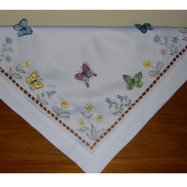 Butterfly Embroidered Tablecloth | Embroidered Tablecloths | Easy Care  ...❤❤❤ | Butterfly Tables U0026 Runners | Pinterest | Butterfly Table And  Butterfly