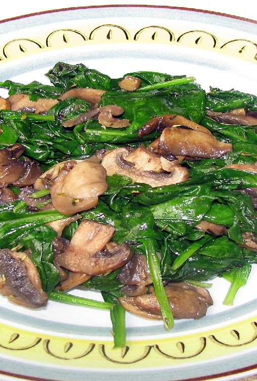 Sauteed Spinach and Mushroom - With the rich flavors of garlic and thyme, our Sautéed Spinach with Mushrooms will win over even the non-veggie lovers in the house.