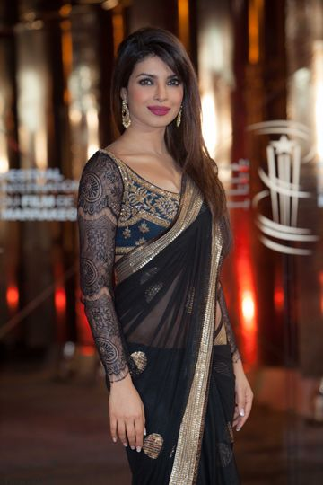 Priyanka Chopra Flaunting Baroque Lace In a Ritu Kumar Outfit at the Marrakech Film Festival
