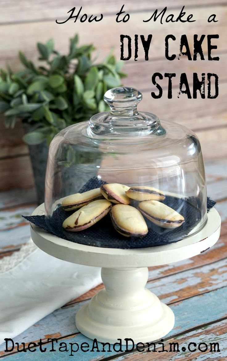 How to Make a DIY Cake Stand from thrift store finds | DuctTapeAndDenim.com