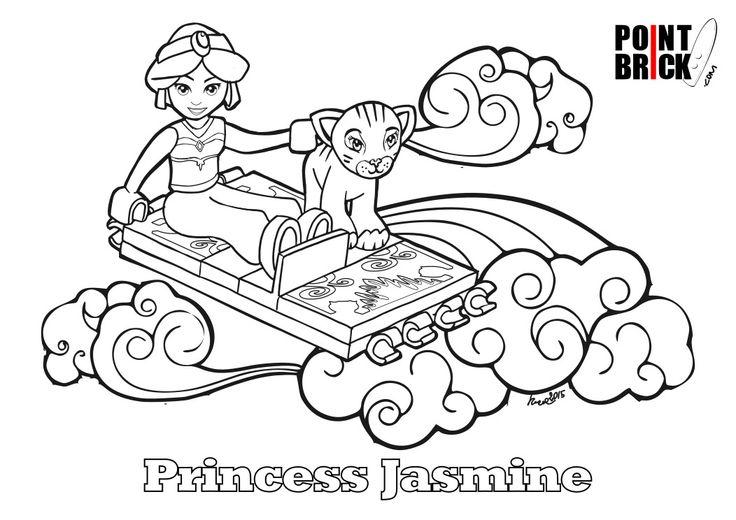 Disegni da Colorare Lego AntMan e Jasmine Disegni da