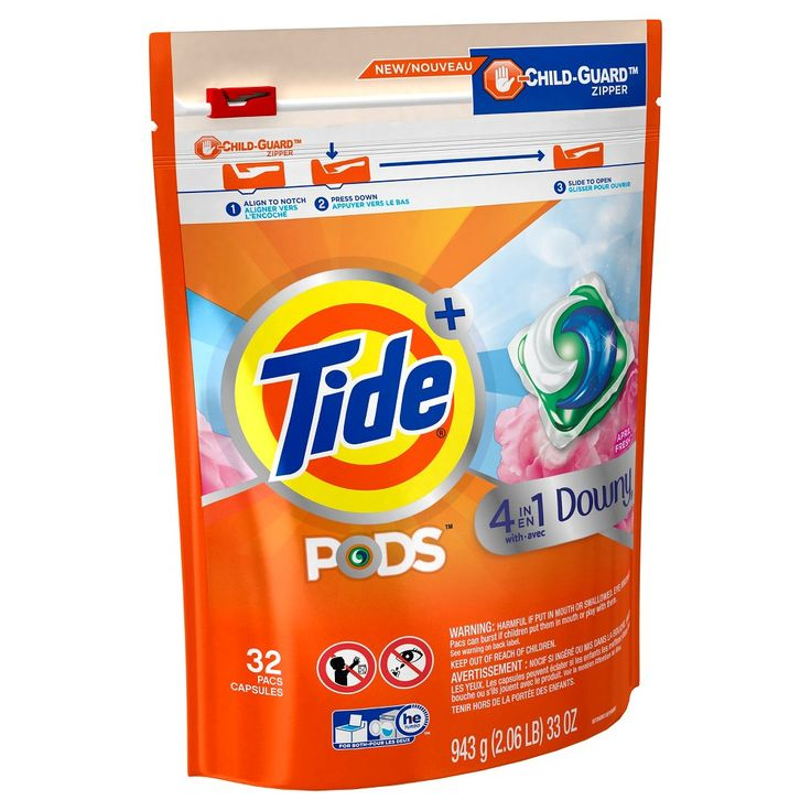 Tide Pods Downy April Fresh, 32ct