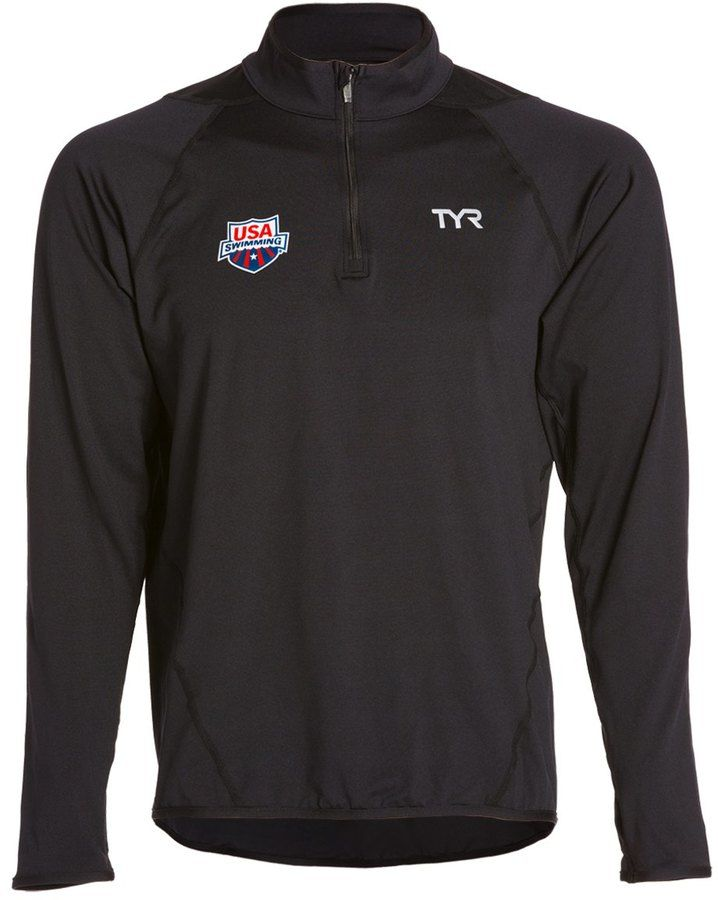 TYR USA Swimming All Elements Men's Long Sleeve 1/4 Zip Pullover 8126189