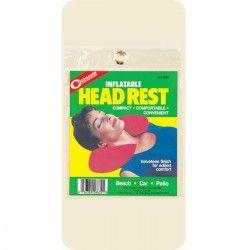 Almofada para pescoço. Feita em vinil revestido de tecido aveludado, é ideal para ser usada em viagens ou em casa, pois apoia a cabeça e impede dores no pescoço. Ocupa pouco espaço quando vazio. http://trilhaserumos.com.br/produto/almofada-p-pescoco/
