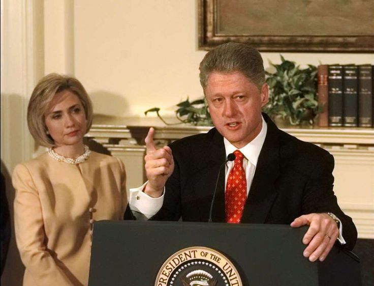 "January 26,   1998: Clinton‐Lewinsky affair  -   President Bill Clinton forcefully denies having an affair with a former White House intern, Monica Lewinsky, telling reporters, ""I did not have sexual relations with that woman."""