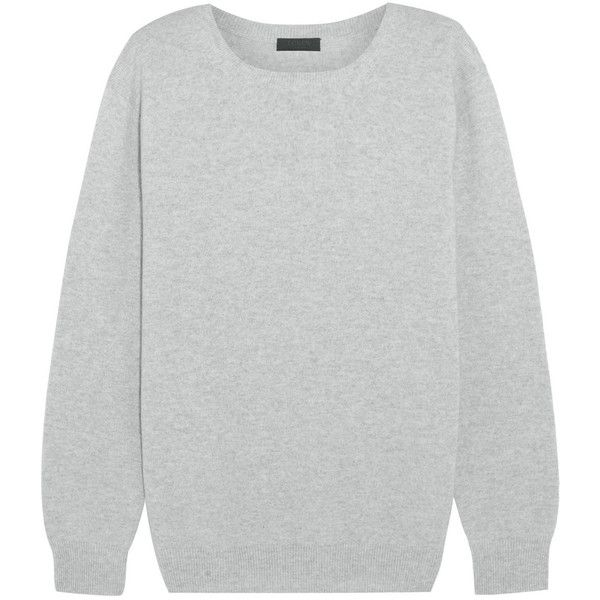 J.Crew Collection cashmere sweater (1.205 RON) ❤ liked on Polyvore featuring tops, sweaters, j.crew, grey, j crew sweaters, grey sweater, j crew tops, gray top and cashmere tops