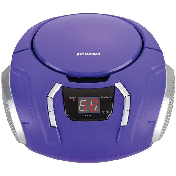 Sylvania Portable Cd Players With Am And Fm Radio (purple)