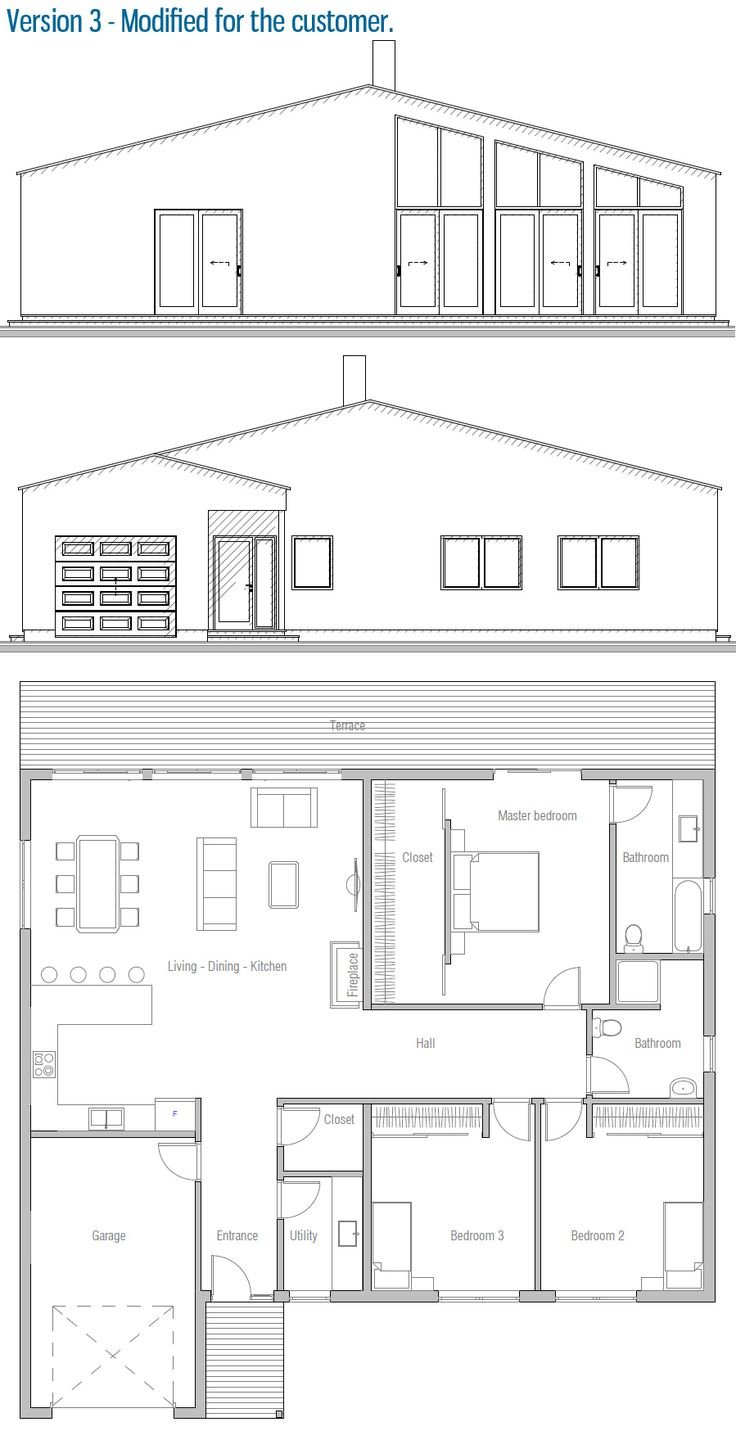 Modified Home Plan / House Plan