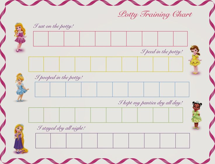 Disney Princess - printable potty training chart by Hot Commodity
