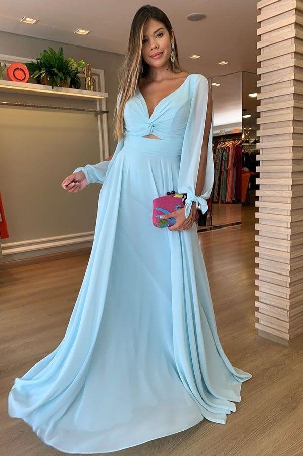 15 vestidos longos para casamento durante o dia (tem vestidos para madrinha de casamento e convidada).… | Vestidos, Vestidos longos casamento, Vestidos longos azuis