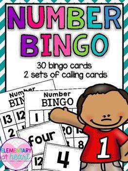 Number Bingo includes numbers 1-20This is a FUN activity that can be used as a whole class or with a small group.Included:-There are 30 Bingo Student Cards-There are 40 Bingo Calling Cards:    One set includes numbers (1-20)   One set includes number words (one-twenty) More Math Products!