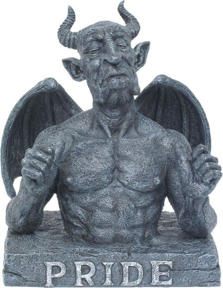 "MAGNIFICENT SEVEN Gargoyle 7 Deadly Sins SLOTH H8.5"" DWK ... 